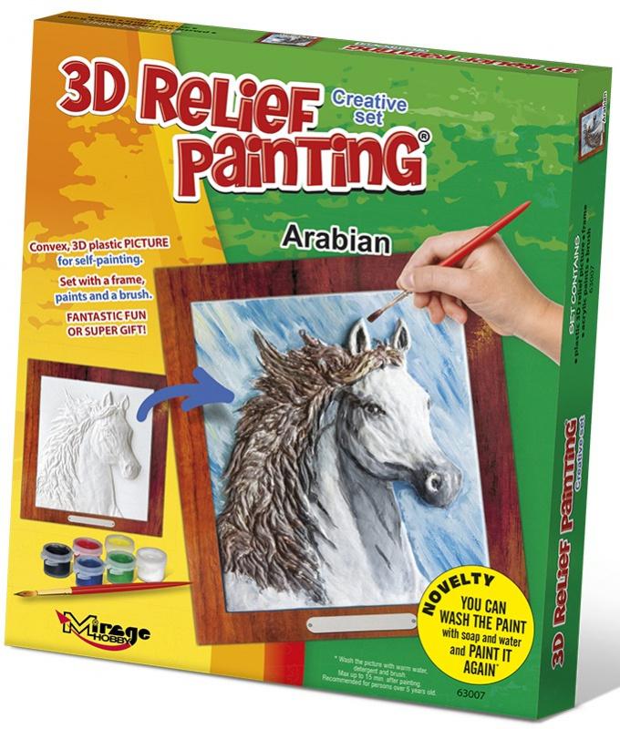 3D reliéfní obrázek 19x21cm Kůň - Arabský