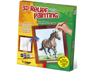 3D reliéfní obrázek 19x21cm Kůň - Quarter