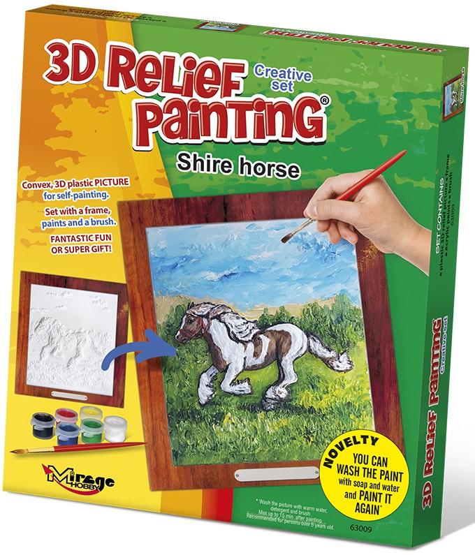 3D reliéfní obrázek 19x21cm Kůň - Shirský