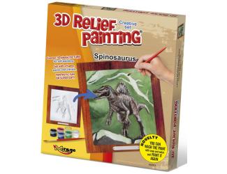3D reliéfní obrázek 19x21cm Spinosaurus