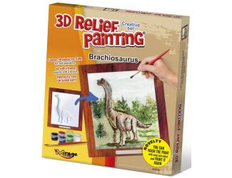 3D reliéfní obrázek 19x21cm Brachiosaurus