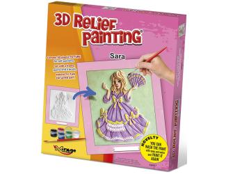 3D reliéfní obrázek 19x21cm Princezna - Sára