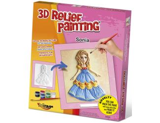 3D reliéfní obrázek 19x21cm Princezna - Sonia