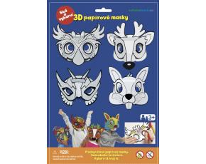 3D Karnevalové masky 4ks - Sova, jelen, králíček, superhrdina