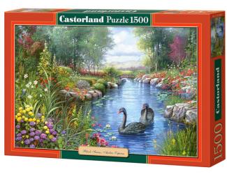 Puzzle Castorland 1500 dílků - Černé labutě