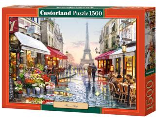 Puzzle Castorland 1500 dílků - Eiffelovka -Flower shop