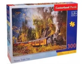 Puzzle 300 dílků- Parní lokomotiva