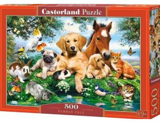 Puzzle Castorland 500 dílků - Zvířecí parta