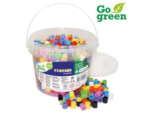 Zažehlovací korálky XL - 950 ks, kbelík Go Green