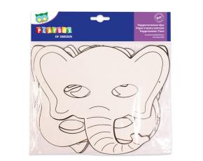 Papírové masky 16 ks - zvířata