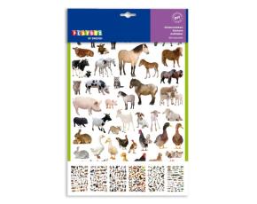 Samolepky- zvířata, 300 ks