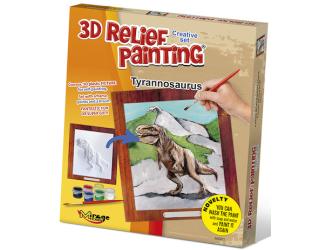 3D reliéfní obrázek 19x21cm Tyrannosaurus