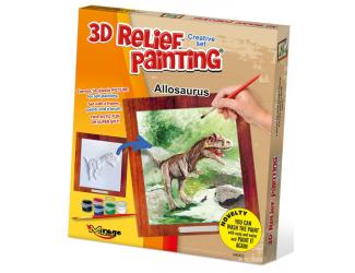 3D reliéfní obrázek 19x21cm Allosaurus