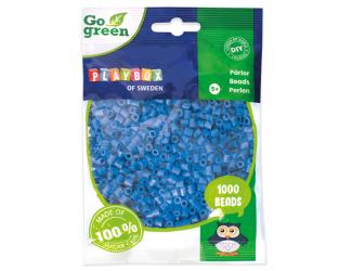 Zažehlovací korálky 1000ks modré Go Green