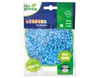 Zažehlovací korálky 1000ks světle modrá Go Green