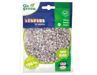Zažehlovací korálky 1000ks šedé Go Green