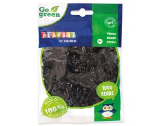 Zažehlovací korálky 1000ks černé Go Green