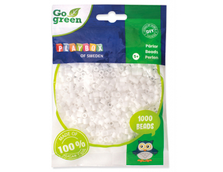 Zažehlovací korálky 1000ks bílé Go Green