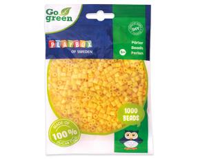 Zažehlovací korálky 1000ks žluté Go Green