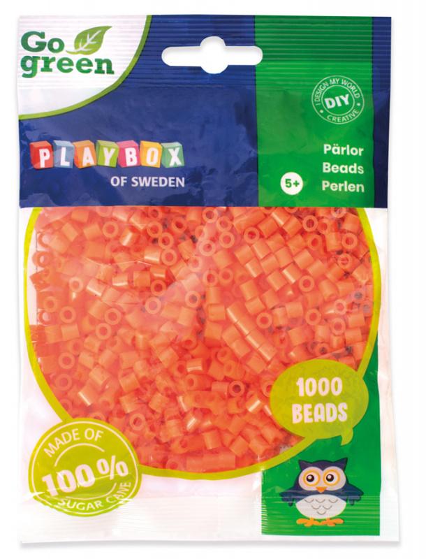 Zažehlovací korálky 1000ks oranžové Go Green