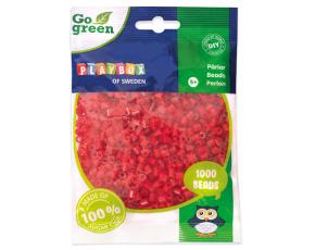 Zažehlovací korálky 1000ks červené Go Green