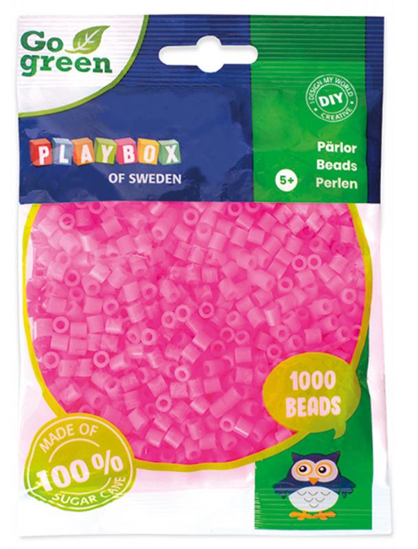 Zažehlovací korálky 1000ks růžové Go Green
