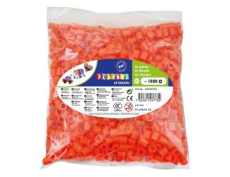 Korálky zažehlovací velké- maxi XL 1000 ks - oranžové
