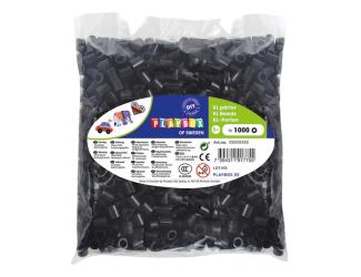 Korálky zažehlovací velké- maxi XL 1000 ks - černé