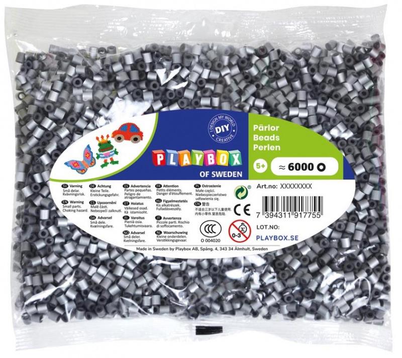 Zažehlovací korálky - 6 000 ks - stříbrné