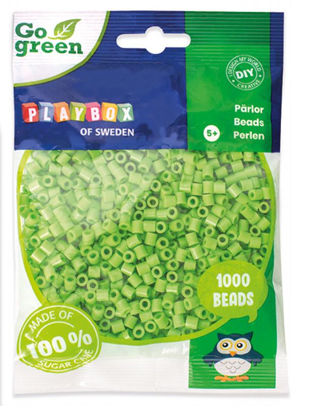 Zažehlovací korálky 1000ks světle zelené Go Green