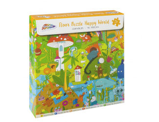Puzzle 96 dílků - šťastný svět