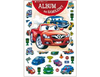 Album na samolepky 16x29 cm + 50 samolepek - auta