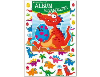 Album na samolepky 16x29 cm + 45 samolepek - dinosauři