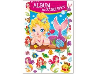 Album na samolepky 16x29 cm + 45 samolepek - mořské panny