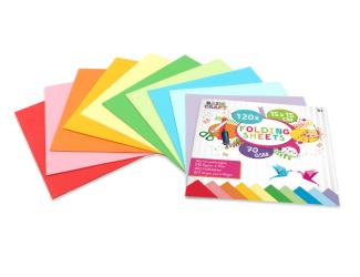 Sada barevných papírů 15 x 15 cm