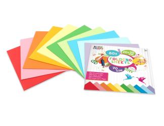 Sada barevných papírů na origami  20 x 20 cm, 70g/m2 -80 ks