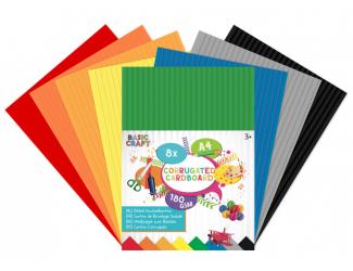 Vlnitý papír A4, 8 listů - 180 g/m2