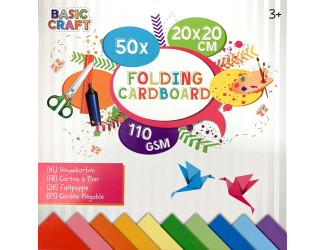 Sada barevných papírů 20 x 20 cm,110 g/m2 - 50ks