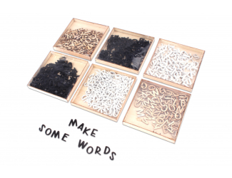 Dřevěná písmena - 104ks, cena za 1ks