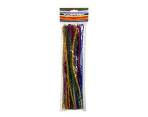 Chlupaté dráty -Třpytivé - 50 ks, 6 mmx30 cm