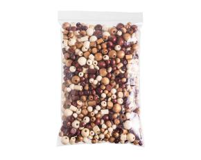 Korálky dřevěné mix - 250 g