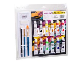 Akrylové barvy - umělecká sada 12x12 ml