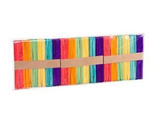 Dřívka barevné 150 ks - 114 x 10 x 2 mm
