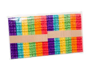 Barevná dřívka s výřezy, 100 ks mix barev