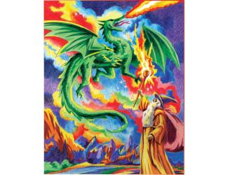 Malování podle čísel PASTELKAMI - drak
