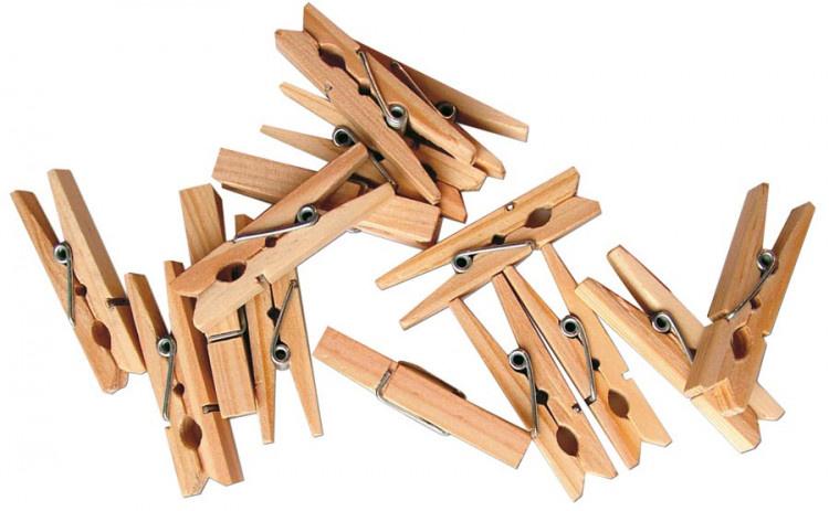 Dřevěné kolíčky přírodní 100 ks, 25mm