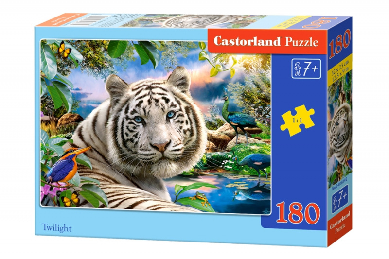 Puzzle Castorland 180 dílků - Bílý tygr