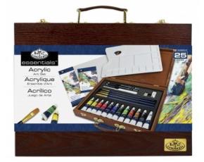 ROYAL and LANGNICKEL Set akrylových barev v dřevěném kufříku.