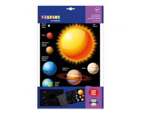 Samolepky- vesmír 250 ks