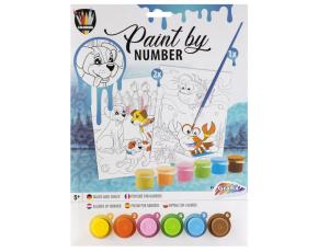 Malování podle čísel-  psi+krab